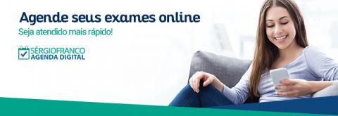 Agenda digital Sergio Franco, agende seus exames online e seja atendido mais rápido